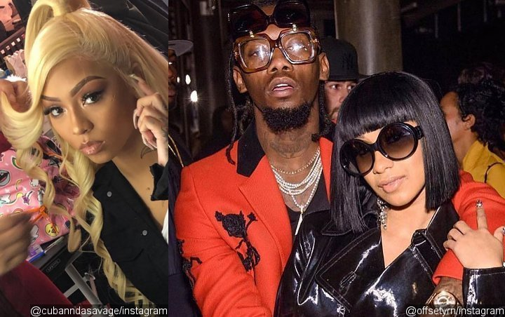 Offset's Dream Threesome Partner Cuban Doll Claims She Clears the Air With Cardi B