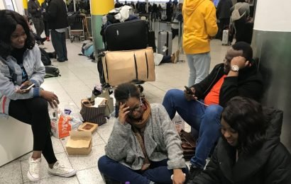 Couple trapped at Gatwick during flight chaos risk missing own dream wedding