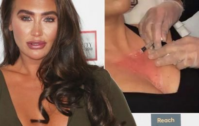 Lauren Goodger gets botox in her boobs after her skin started to wrinkle
