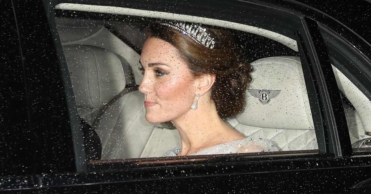 Kate Middleton glitters in Princess Diana's tiara for event at Buckingham Palace