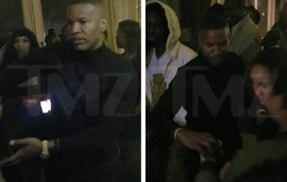 Jamie Foxx Dancing During His Holiday Party in Los Angeles