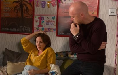 EastEnders' Rainie Cross collapses after major pressures get the better of her