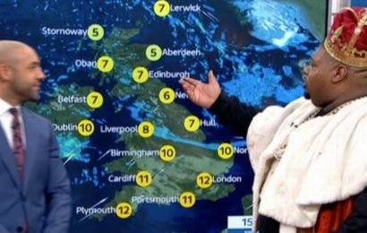 Big Narstie needs help with 'basic geography' as he wanders on weather forecast