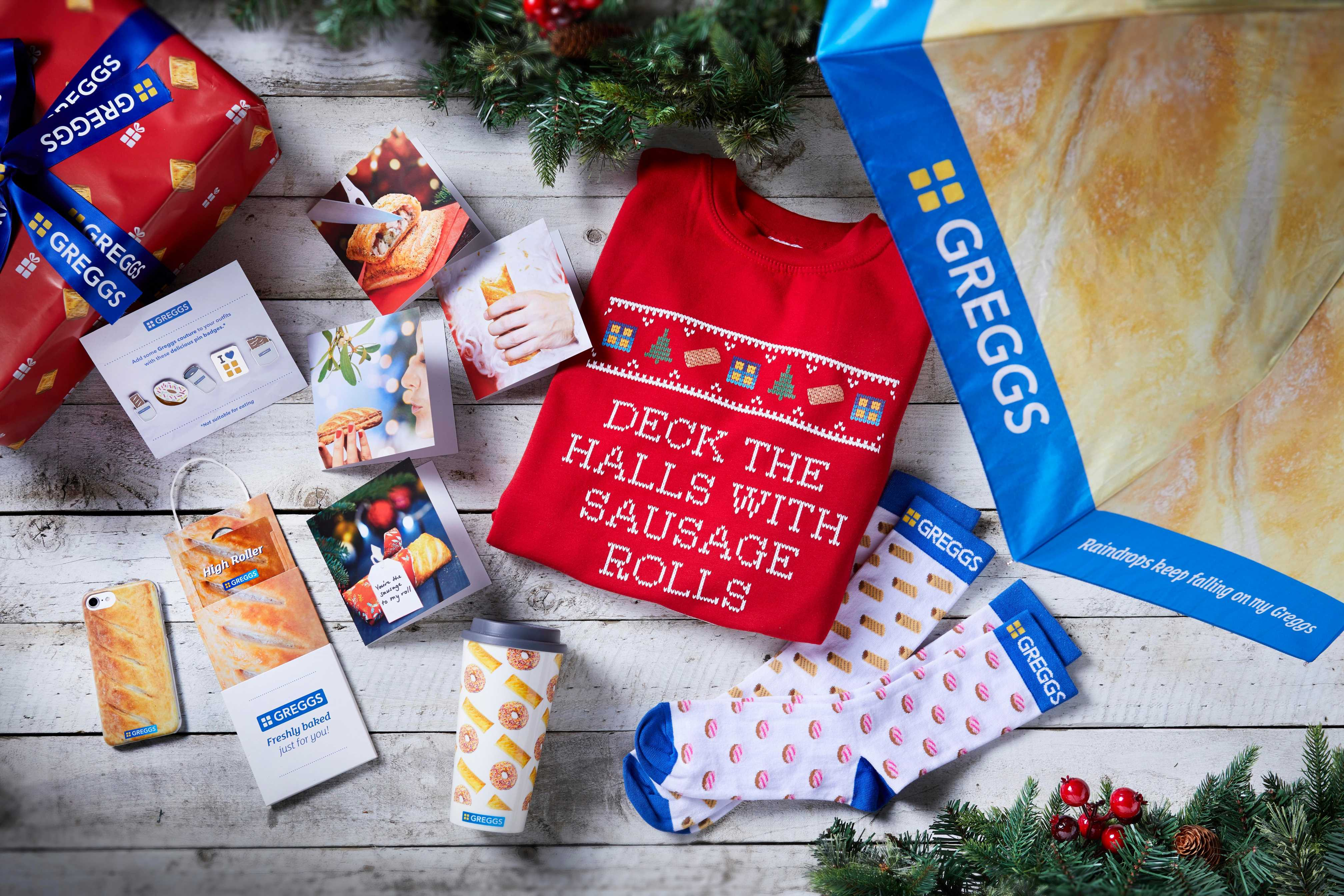 Greggs is selling stocking fillers including a SAUSAGE ROLL phone cover and Christmas jumper