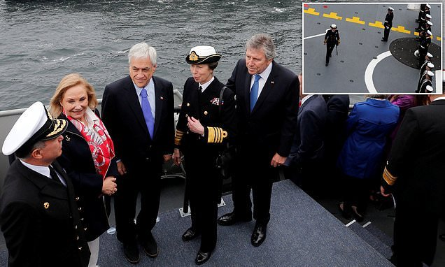 Princess Anne marks 200th anniversary of Chilean navy