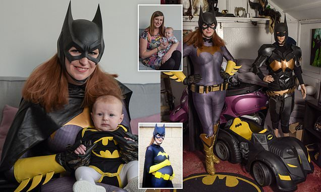 Batgirl superfan has spent £10K on costumes and 'bat cave' in garden