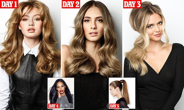 Your five-day party hair guide: How to create a week of party looks