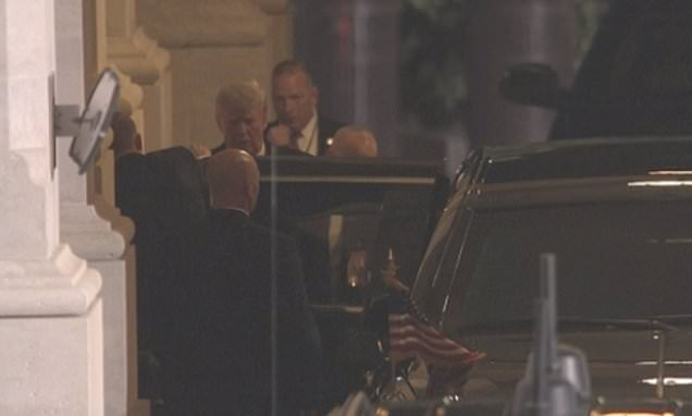 Trump makes surprise visit to Capitol Rotunda to pay respects to Bush