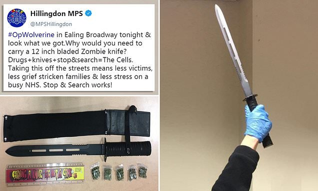 Met police seize terrifying 15-inch zombie knife