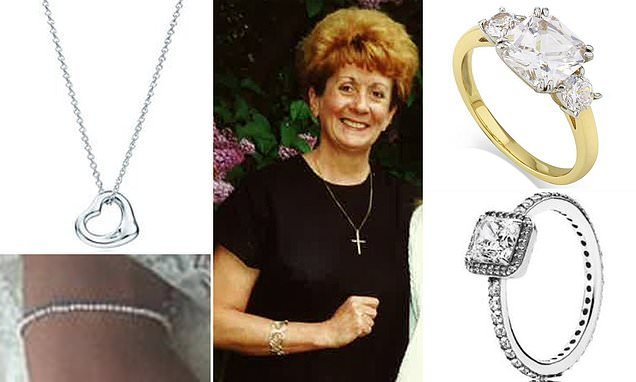 Pictured: The jewellery stolen by gang whose raid led to woman's death