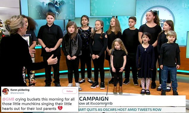 Viewers are left in tears as a choir of bereaved children sing on GMB