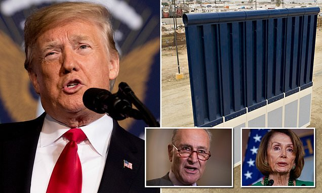 My border wall would pay for itself in just one month claims Trump