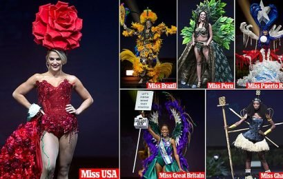 Miss Universe contestants dazzle during pageant's costume presentation