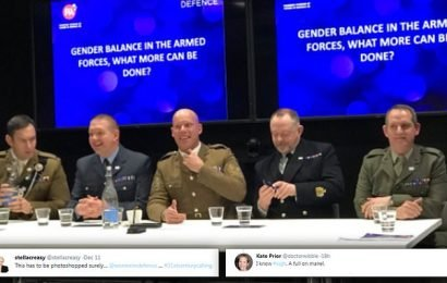 Women in Defence under fire after asking MEN to discuss gender balance