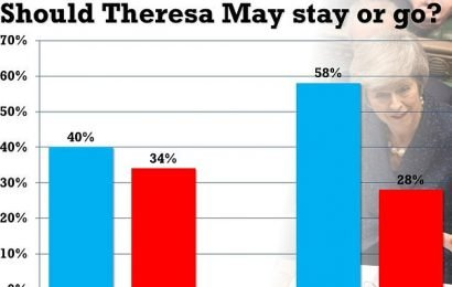 Most voters think Theresa May should keep her job