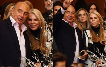 Sir Philip Green appears at charity event with wife Tina in Monaco