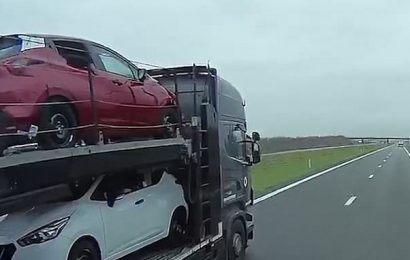Migrants sneak into vehicle then realise it is going AWAY from Calais