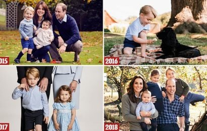 Prince George wears trousers for the FIRST time in official portrait