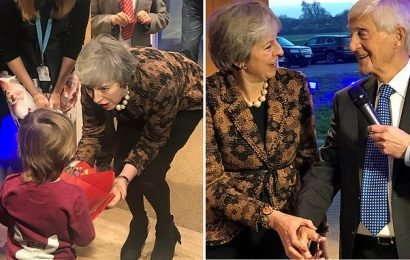 May ends her bruising week by opening a hospice in her constituency