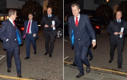 Former foes David Cameron and Alastair Campbell appear at concert