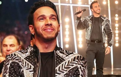 Lewis Hamilton gets viewers talking with eye-catching jacket