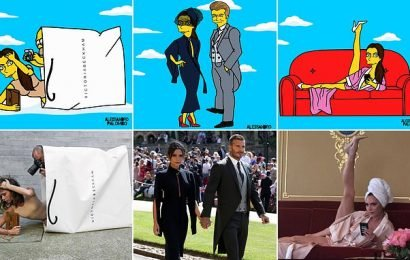 Beckhams are immortalised as Simpsons in hilarious animations