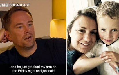 Simon Thomas's son helped with one-year anniversary of wife's death