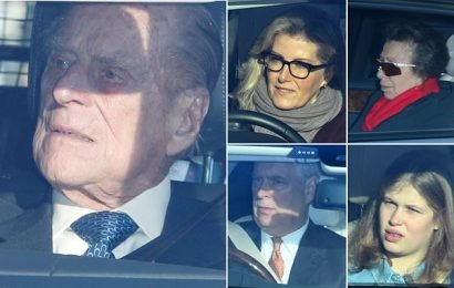 Royals arrive for the Queen's Christmas lunch at Buckingham Palace