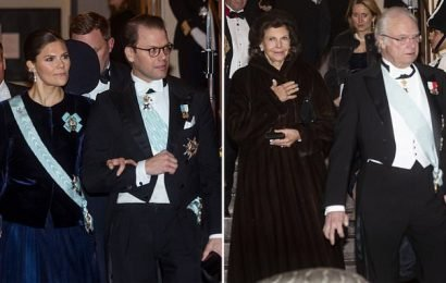 Swedish royals attend Swedish Academy meeting in Stockholm