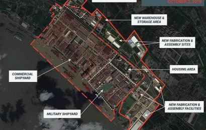 Satellite images show Chinese military shipyard expanding rapidly
