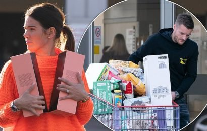 Rebekah Vardy and husband Jamie embark on mammoth Christmas food shop