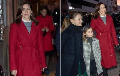 Princess Mary stuns in scarlet at Christmas Day church service
