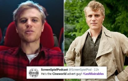Les Misérables star Johnny Flynn appeared in Cineworld advert