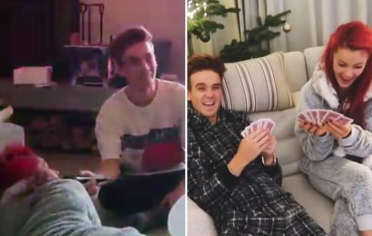 Strictly's Joe Sugg and Dianne Buswell sing romantic songs to each other in sweet video days before separating to spend Christmas apart