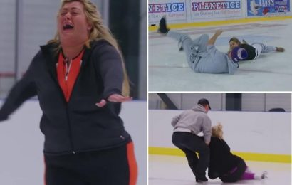 Dancing On Ice reveals first look at stars in action as Gemma Collins and Brian McFadden fall and crash