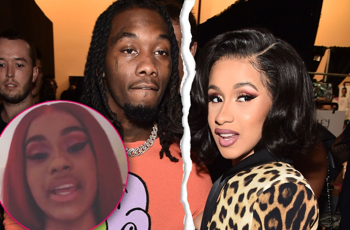 Cardi B Reveals She & Offset Split In Shocking Video: 'I Guess We Fell Out Of Love'