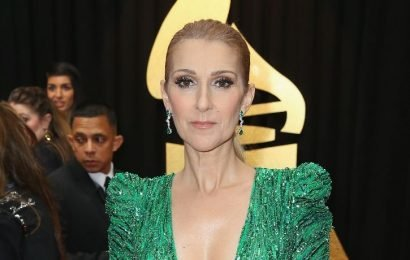 Celine Dion Rocks A Leather Dress & Thigh-High Boots At 50