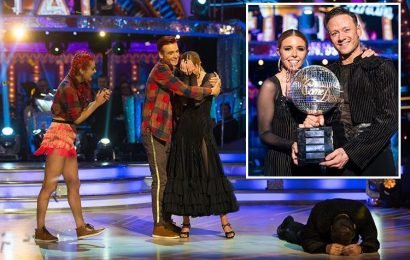 Kevin Clifton's Strictly final collapse was down to 14 hour days of dancing with Stacey Dooley says his dad