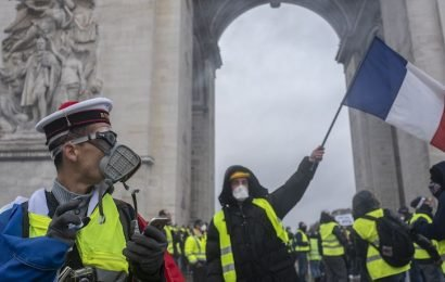Violent Paris Protests Reach A Climax On Saturday With 1,300 Arrested And Dozens Injured