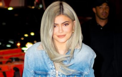 Kylie Jenner sparkles in bedazzled naked dress