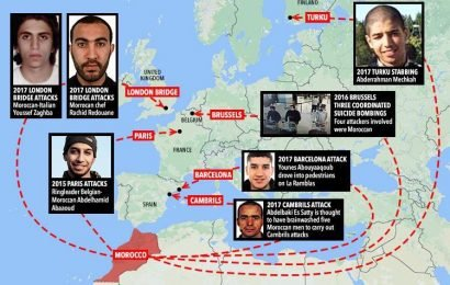 How ISIS fanatics from 'terror hotbed' Morocco flooded Europe to carry out attacks in London, Paris, Barcelona, Brussels and Finland