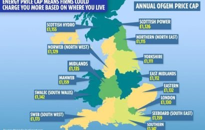 Energy price cap means firms could charge you up to £62 more than others based on where you live