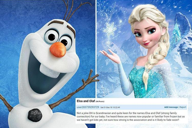 Mum divides opinion asking if it's acceptable to name her child after characters from Frozen
