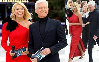 Holly Willoughby reunited with TV husband Phillip Schofield to launch Dancing On Ice