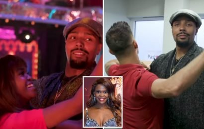 Strictly's Oti Mabuse puts Jordan Banjo through his paces backstage at Strictly for The Greatest Dancer promo
