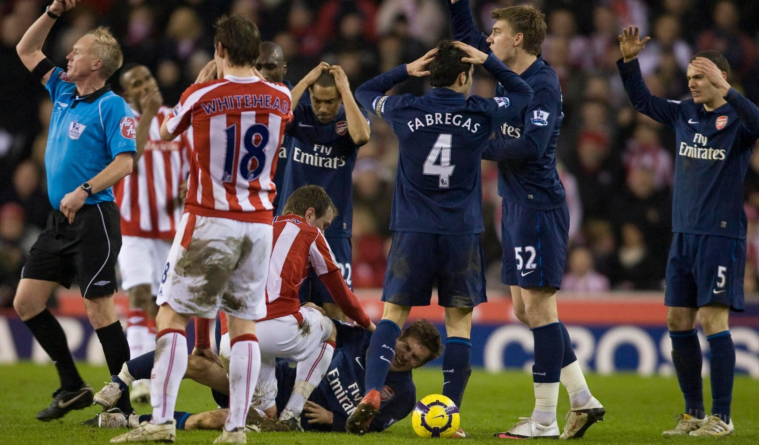 Aaron Ramsey's leg break at Stoke vs Arsenal was no surprise… Tony Pulis hated Arsene Wenger and we were totally out of control