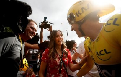 Who is Geraint Thomas' wife Sara Elen and when did she marry the Tour de France winner?