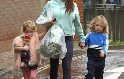 Katie Price refuses to give Bunny and Jett to ex Kieran Hayler for Christmas Day and leaves him fuming outside mucky mansion