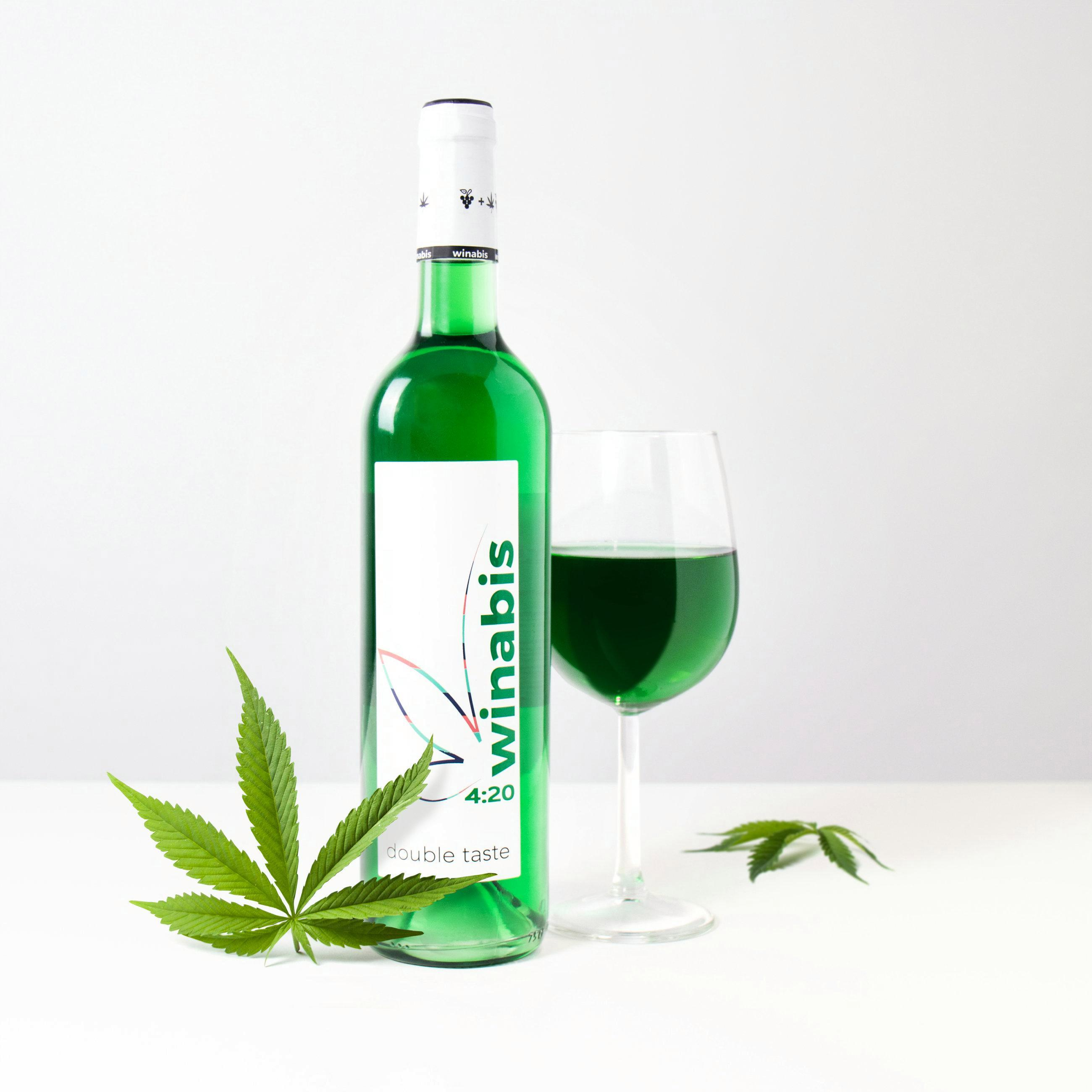 Green wine made with cannabis is on sale just in time for Christmas – but don't worry, it won't get you stoned