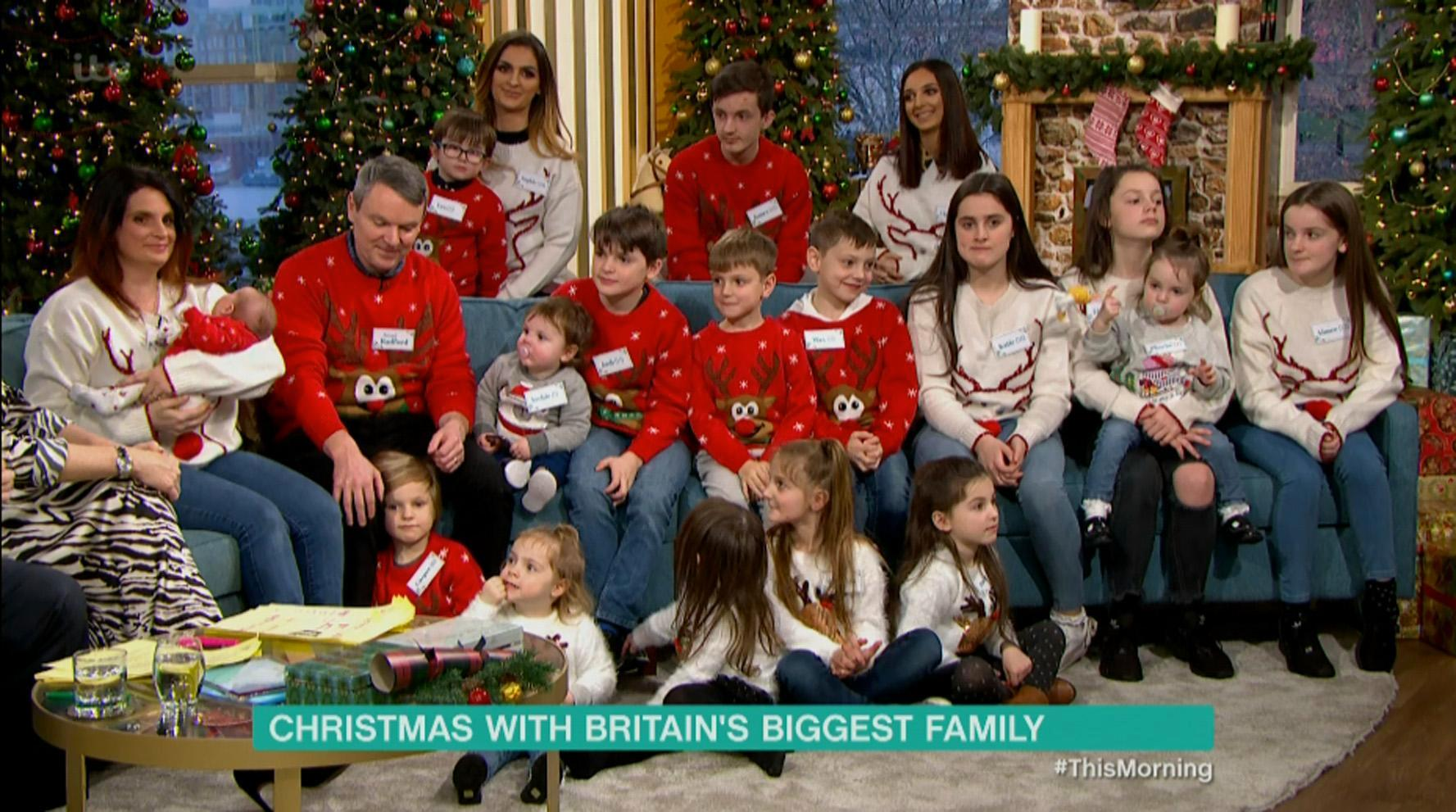 Britain's biggest family The Radfords reveal how they are preparing for Christmas after welcoming 21st child… and insist this is the last baby